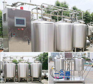 Whole Set Type CIP Washing System In Small Scale Stainless Steel 304 / 316L Material